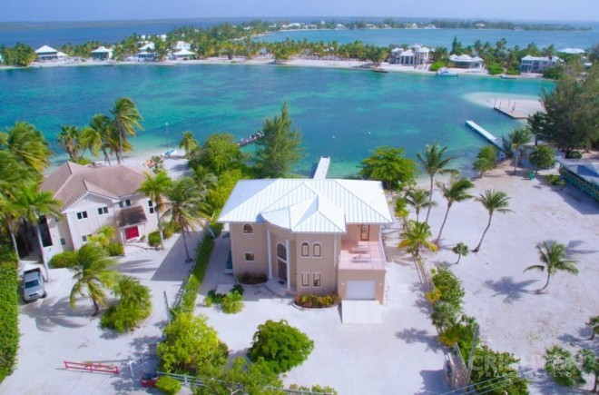 A Typical Waterfront House in Rum Point, Cayman