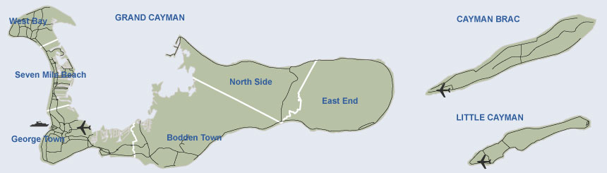 Map of Cayman Islands by Crighton Properties Ltd